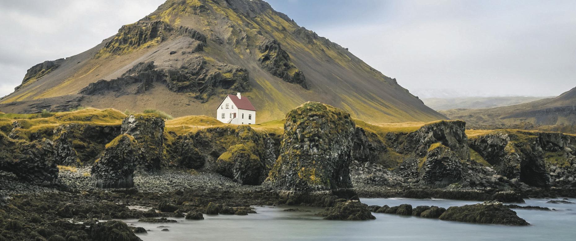 Kraft tanken auf Island