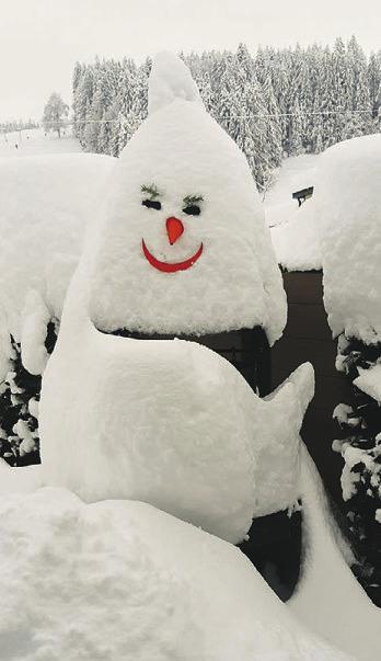 Dieser Grill ist auch ein Schneemann!