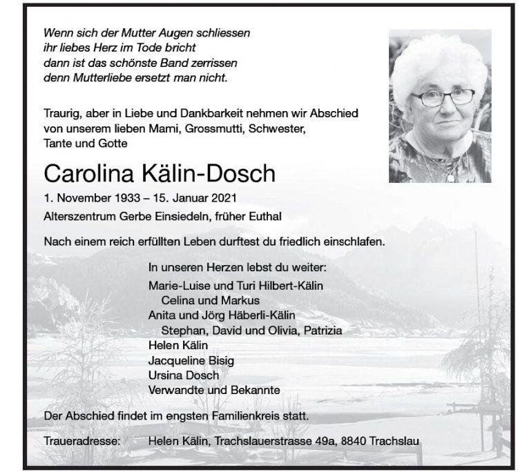 Carolina Kälin-Dosch
