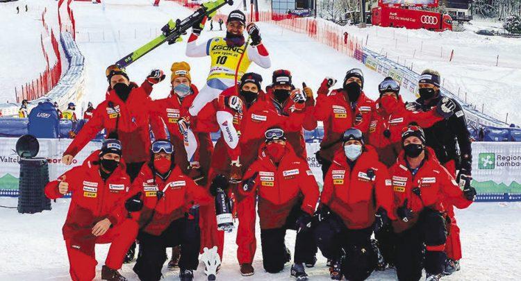 Urs Kryenbühl hat in Bormio die Skifans zweimal entzückt