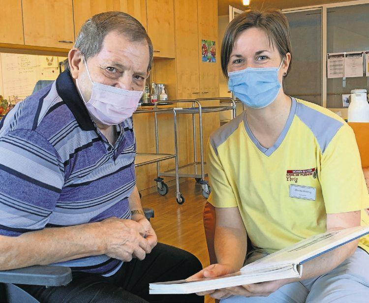 Samariter helfen im Altersheim aus