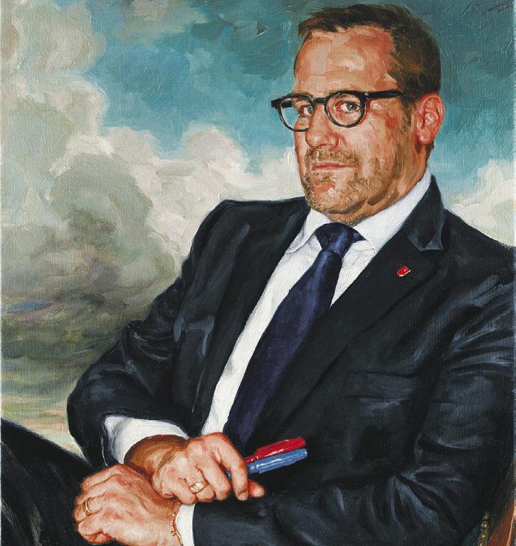Regierungsrat Kaspar Michel präsentiert das Landammann-Porträt