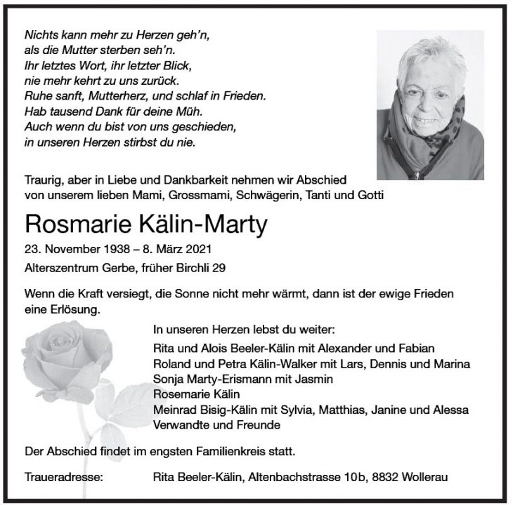 Rosmarie Kälin-Marty