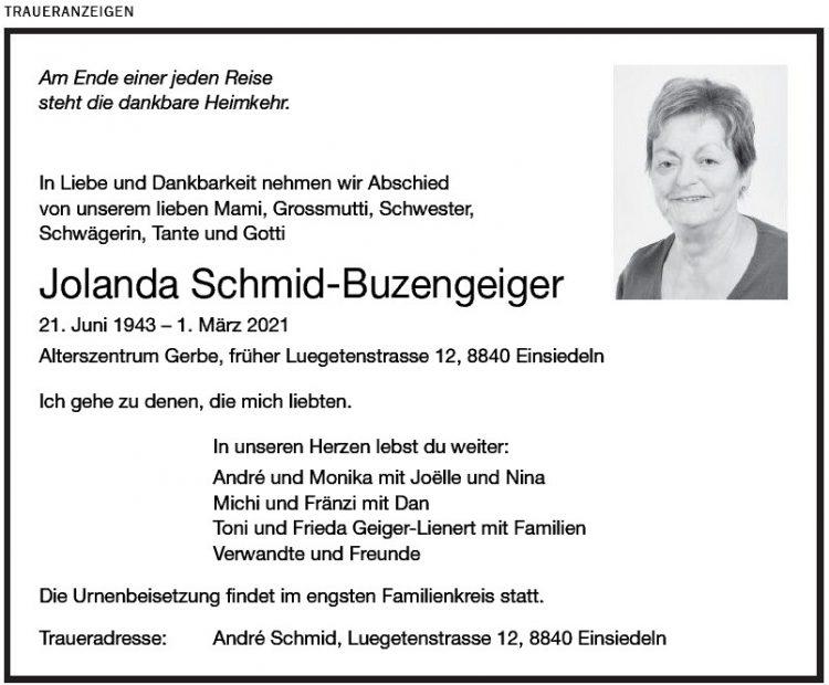 Jolanda Schmid-Buzengeiger