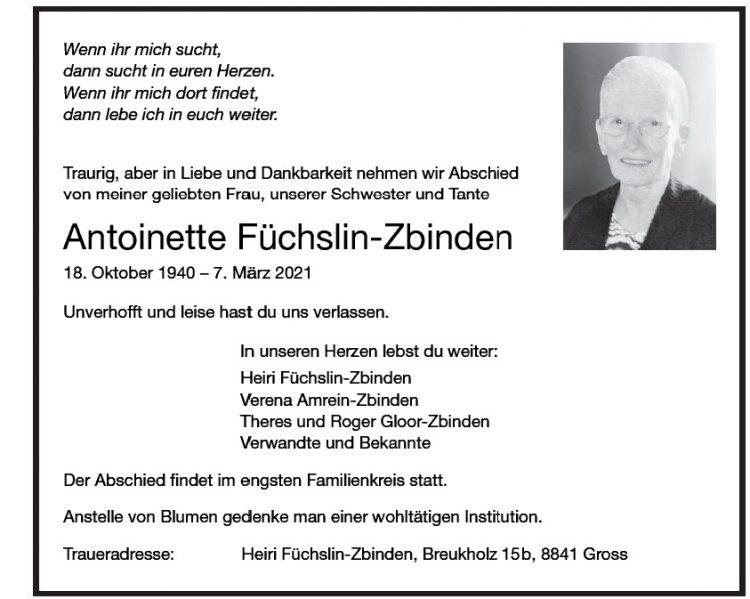 Antoinette Füchslin-Zbinden
