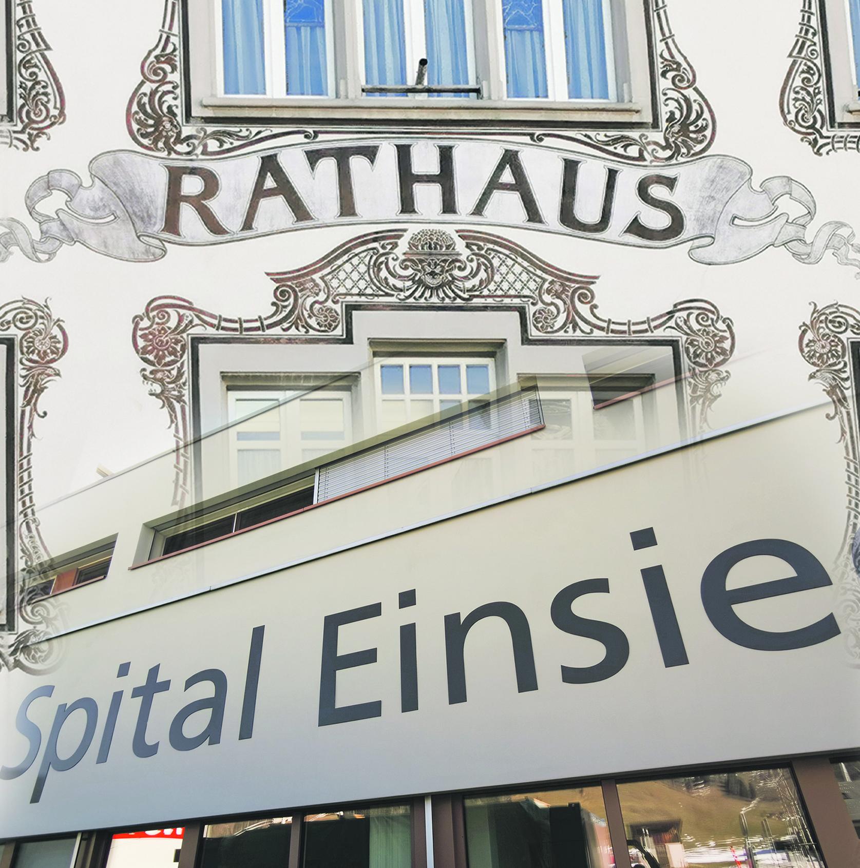 Heute lesen, was morgen im EA steht: FDP Einsiedeln fordert Bezirksrat auf, alten «Spital-Zopf» abzuschneiden