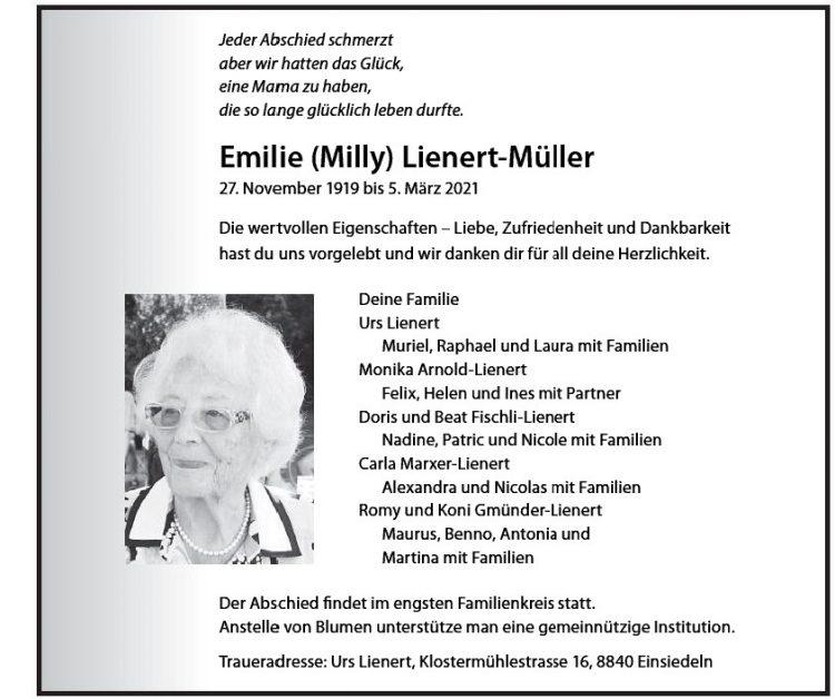 Emilie (Milly) Lienert-Müller