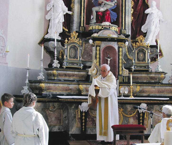 Euthaler Feiertag mit Pfarrer  Martin Kopp zelebriert