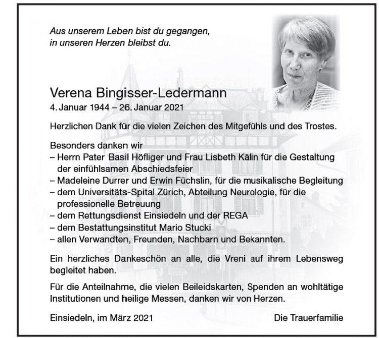 Verena Bingisser-Ledermann