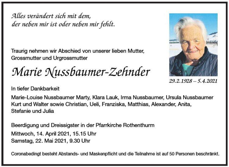 Marie Nussbaumer-Zehnder