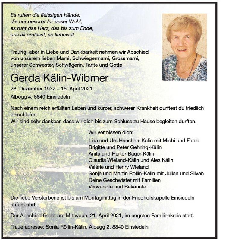 Gerda Kälin-Wibmer
