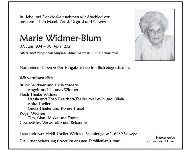 Marie Widmer-Blum