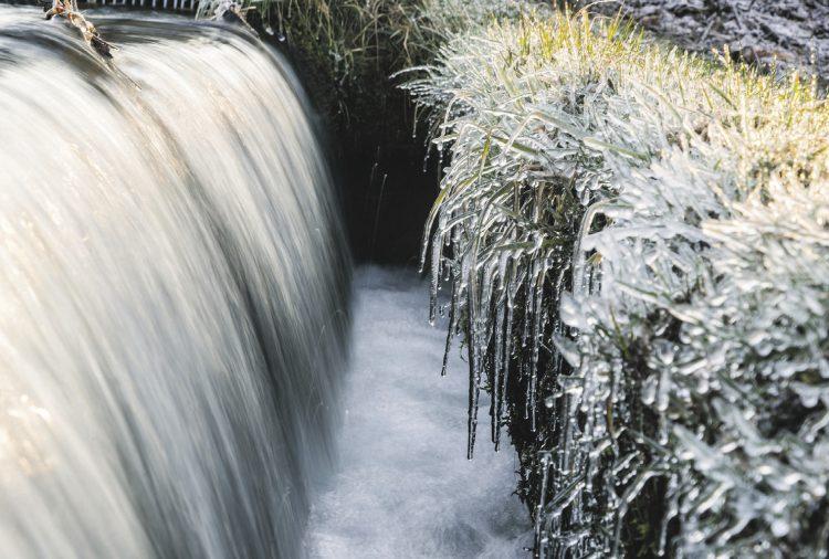 Frost und Eis begleiten den April