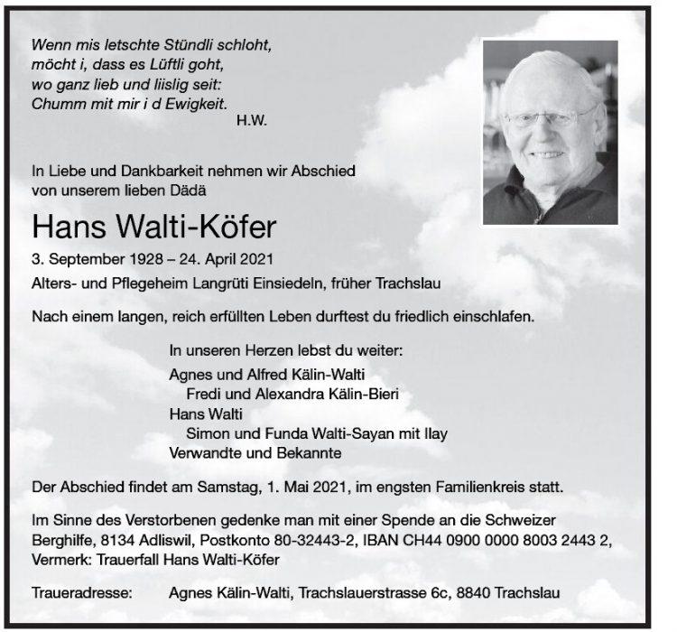 Hans Walti-Köfer