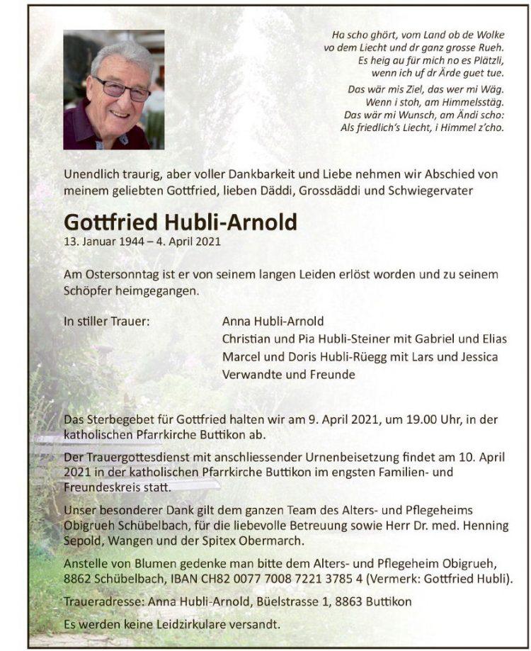 Gottfried Hubli-Arnold