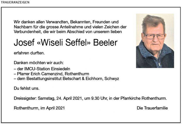 Josef «Wiseli Seffel» Beeler