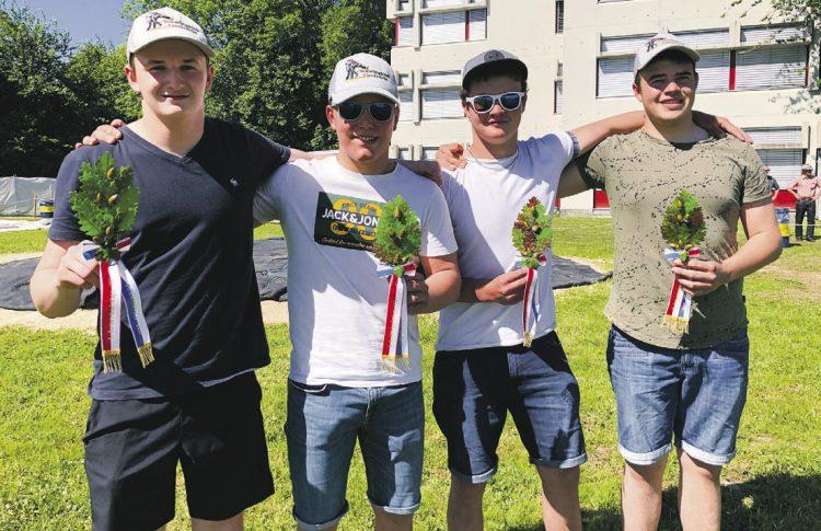 Vier Nachwuchsschwinger holten die Auszeichnung