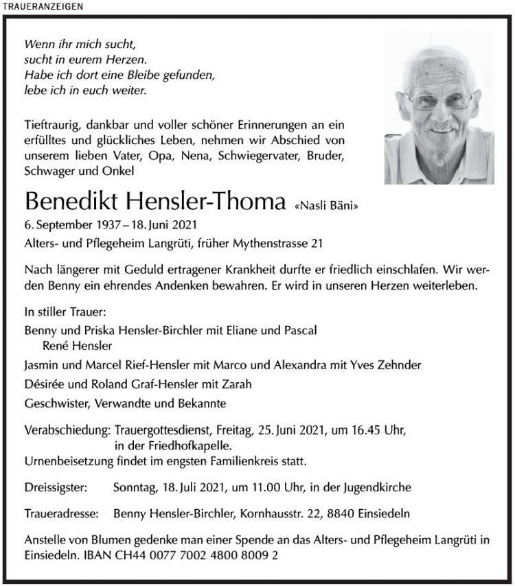 Benedikt Hensler-Thoma