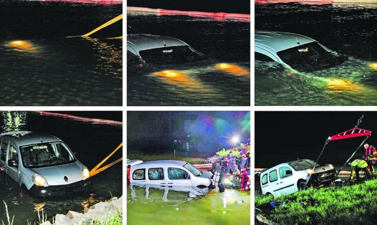 Auto aus dem Sihlsee gefischt