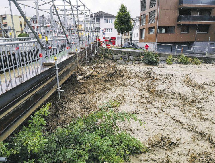 Erneut Starkregen mit Hochwasser
