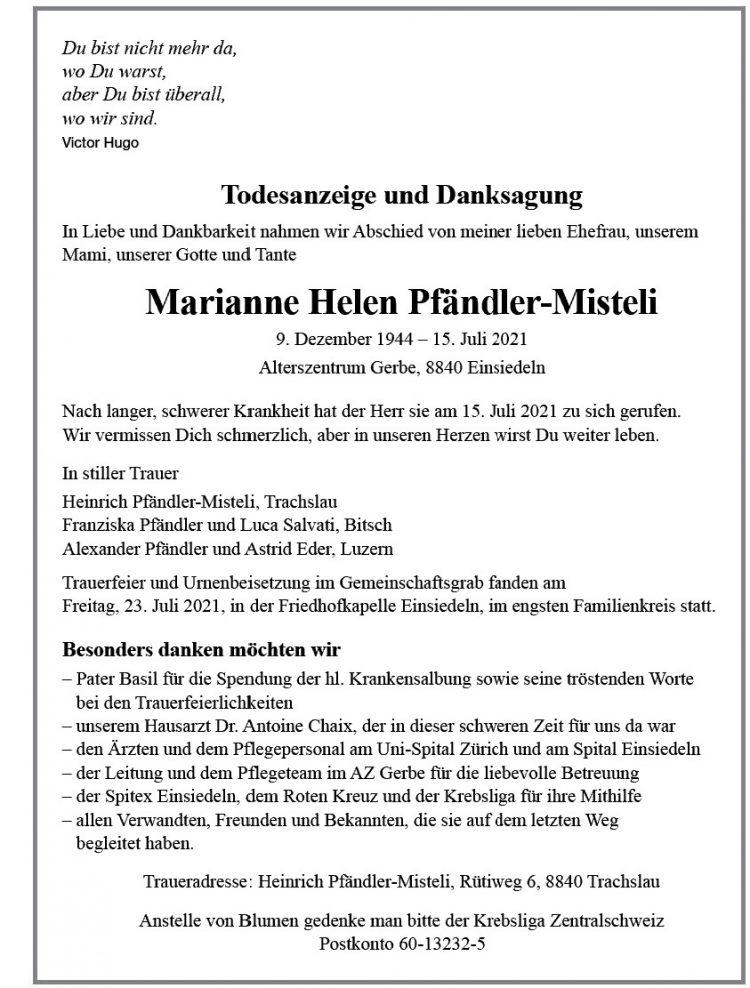 Marianne Helen Pfändler-Misteli