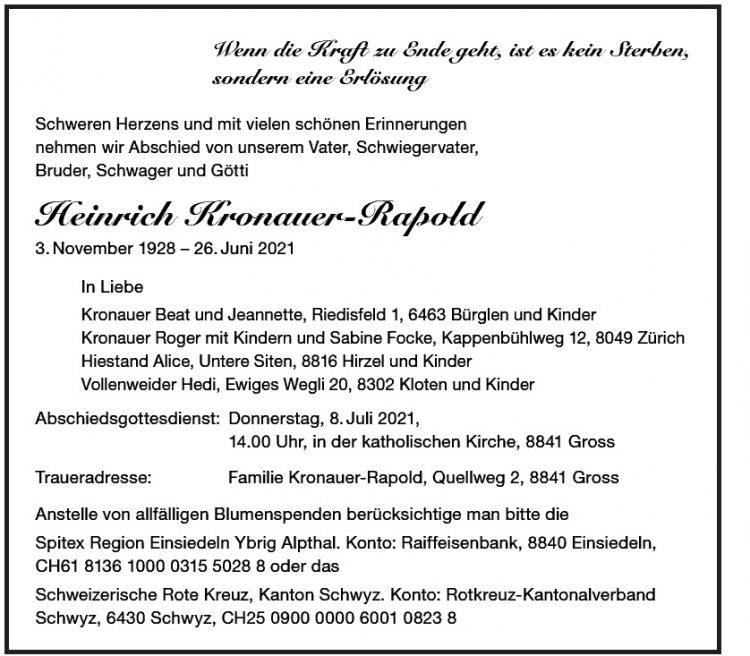 Heinrich Kronauer-Rapold