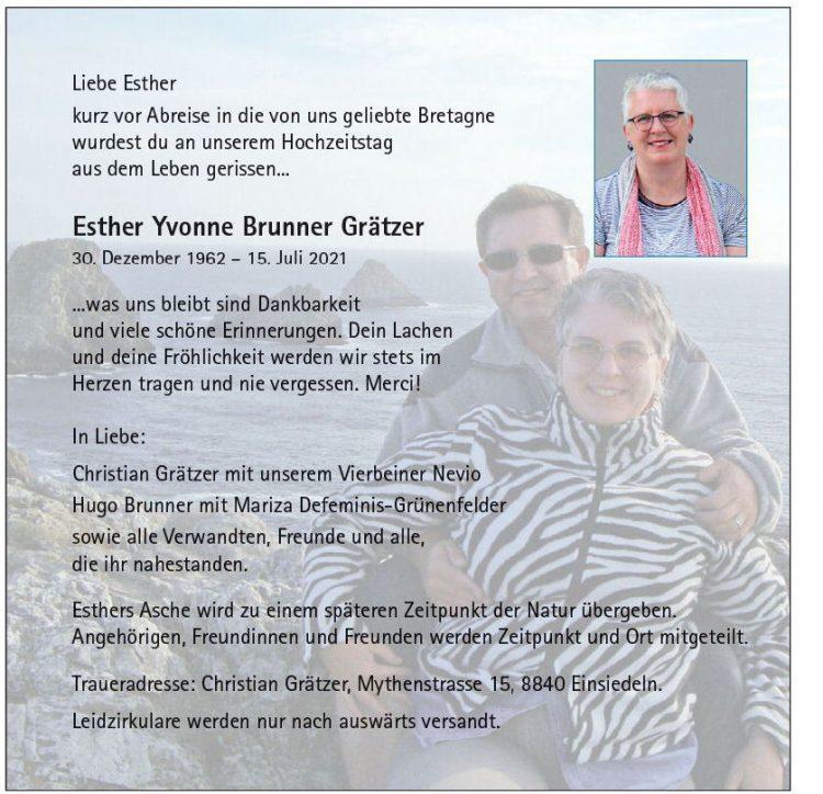 Esther Yvonne Brunner Grätzer