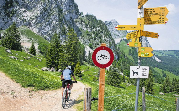 Büssen Biker für illegalen Weg?