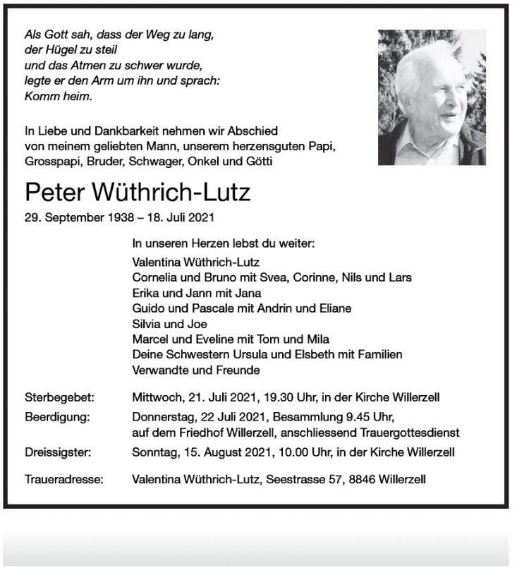 Peter Wüthrich-Lutz