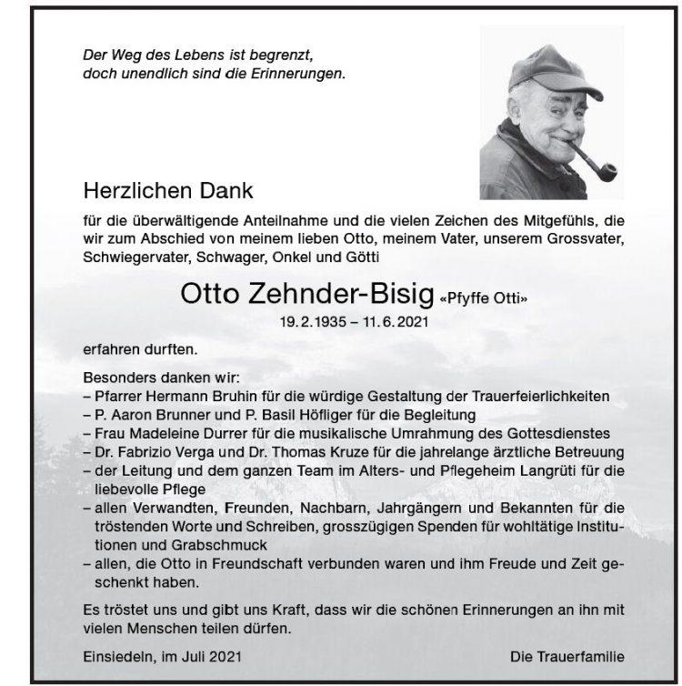 Otto Zehnder-Bisig