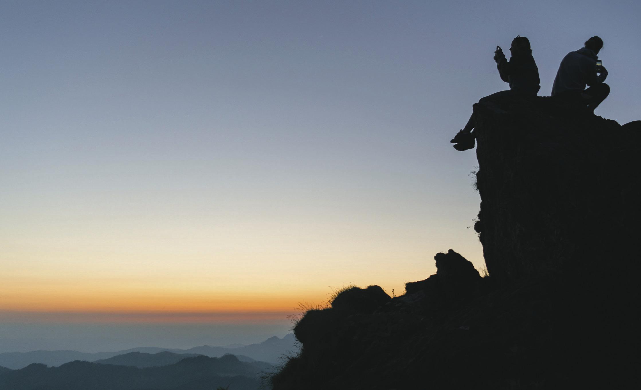 Der Grosse Mythen holt die Wanderer aus ihren Betten