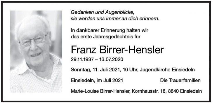 Franz Birrer-Hensler