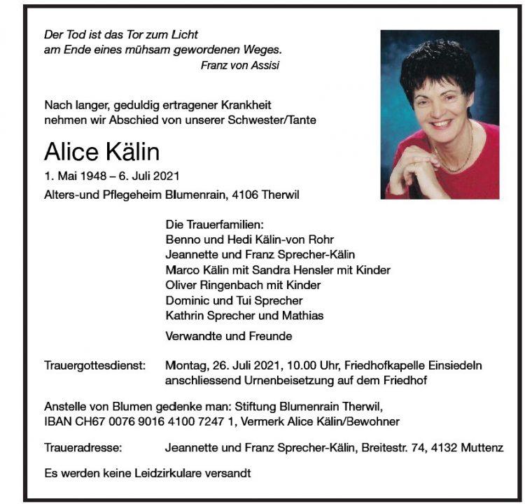 Alice Kälin