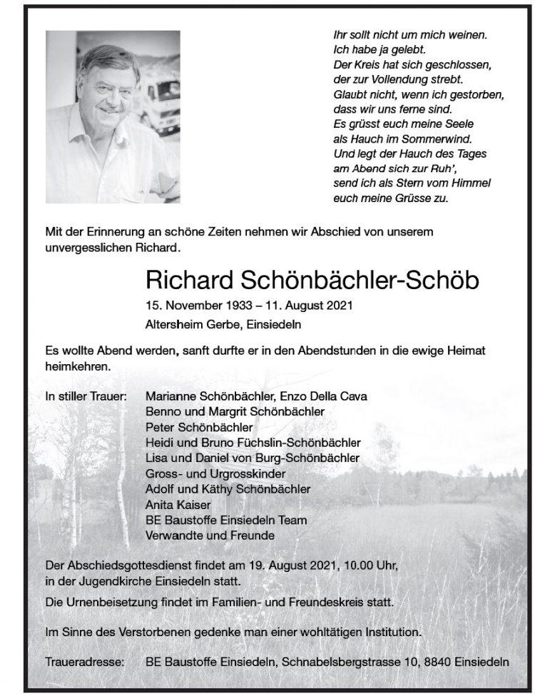 Richard Schönbächler-Schöb