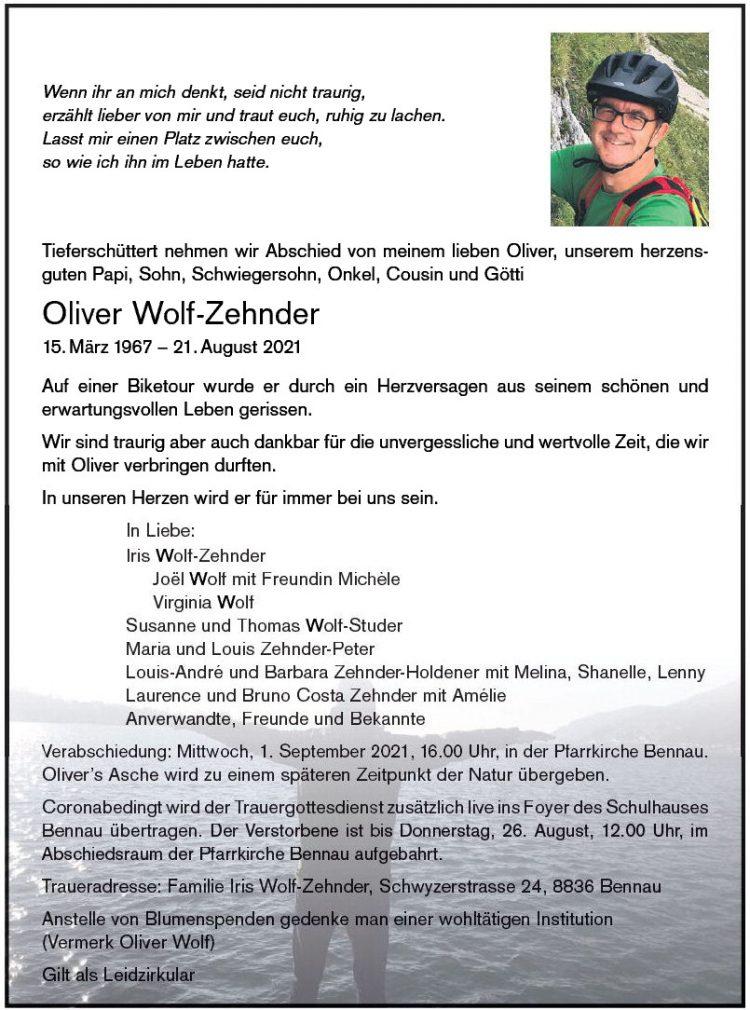 Oliver Wolf-Zehnder
