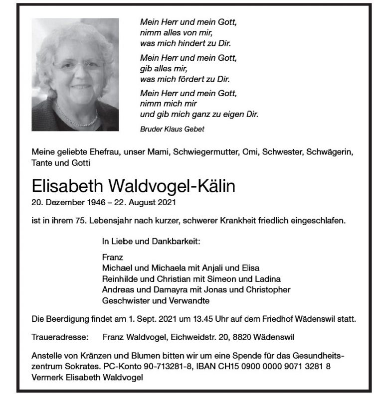 Elisabeth Waldvogel-Kälin