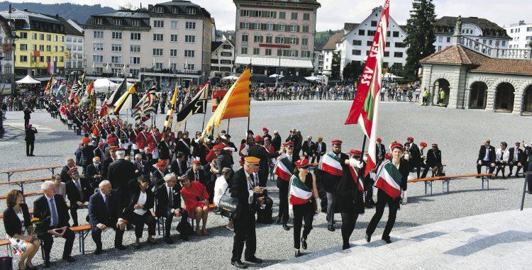 Ein farbenfrohes Zentralfest des  Schweizerischen Studentenvereins