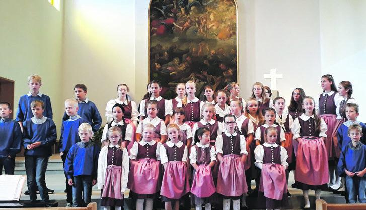 Erntedank-Gottesdienst mit Kinderjodelchörli