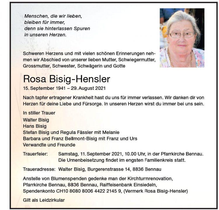 Rosa Bisig-Hensler