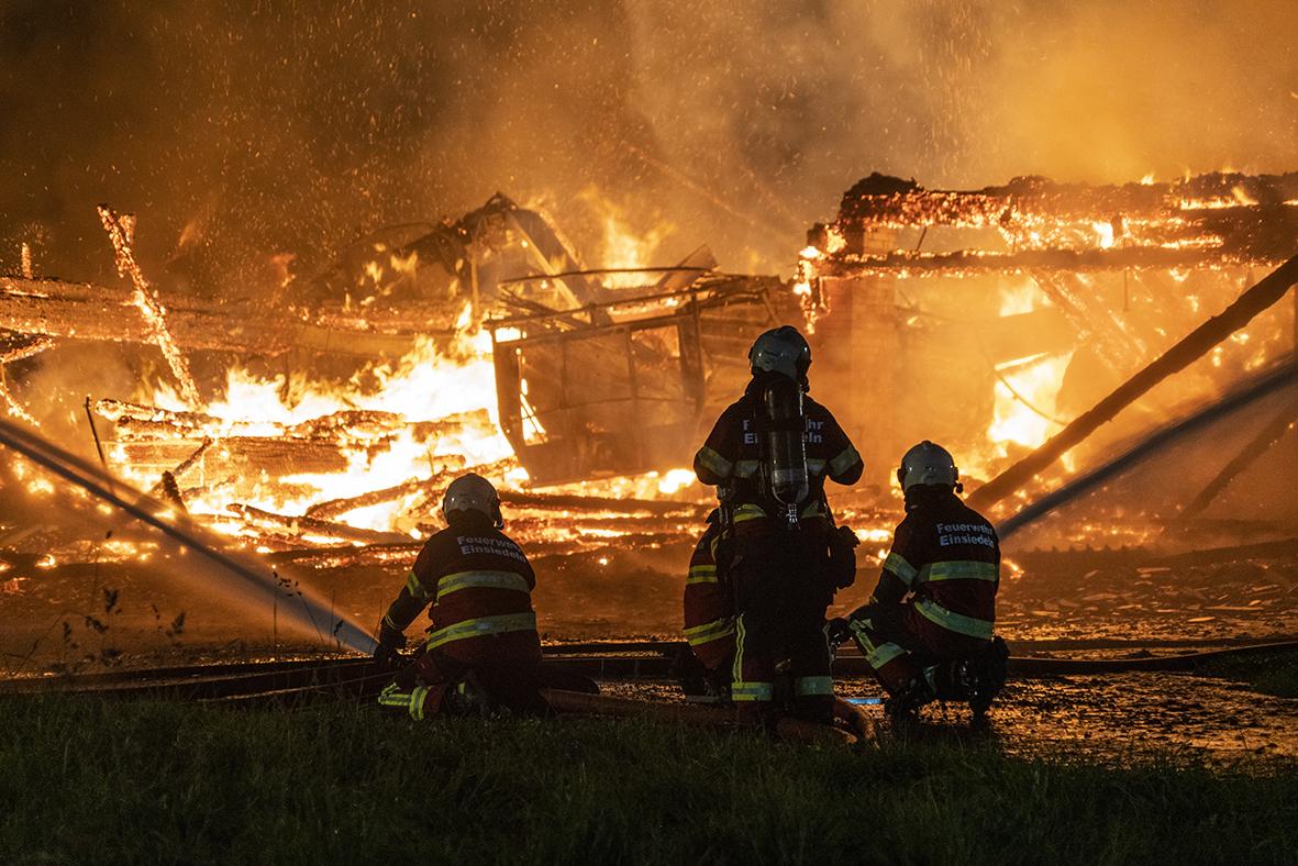 Brand in Trachslau hat sich gelegt – Wohnhaus und Biogasanlage unbeschädigt