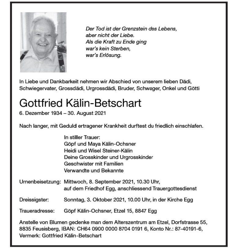 Gottfried Kälin-Betschart
