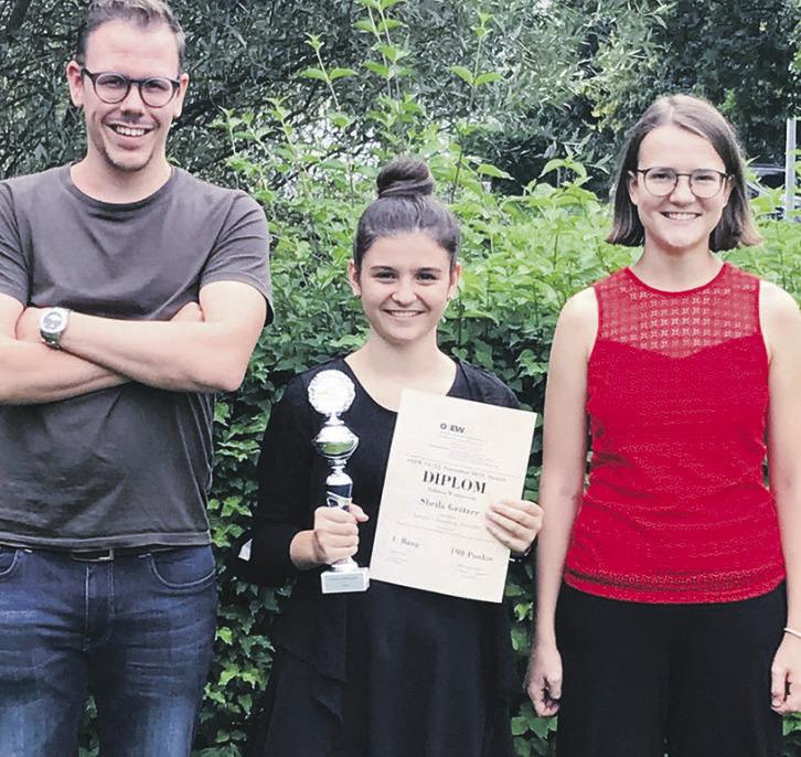 Bennauerin gewinnt beim  Ostschweizer Solistenwettbewerb