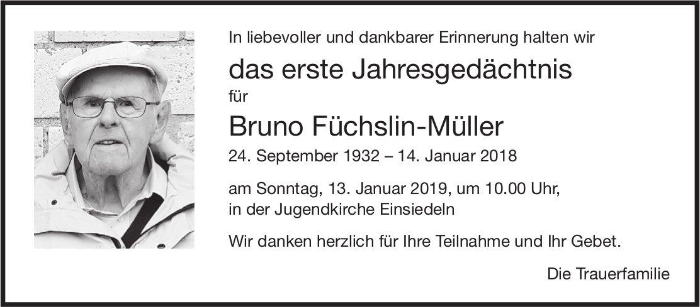 Füchslin-Müller Bruno, im Januar 2019 / DS