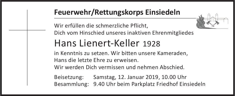 Lienert-Keller Hans, Januar 2019 / TA