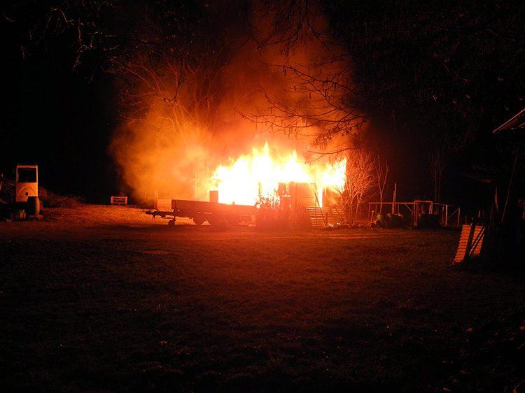 Wilen: Brand eines Häuschens in einem Schrebergarten