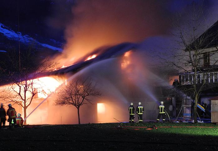 Brand einer Remise in Muotathal