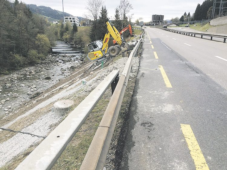Arbeiten führen in Biberbrugg zu Verkehrsbehinderung