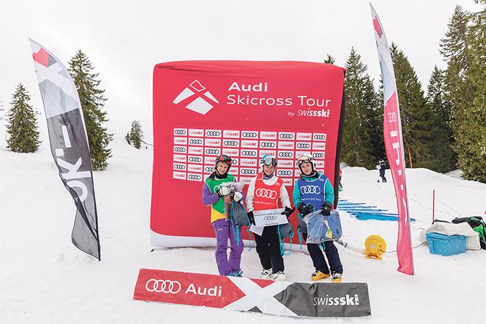 Regionale Siege an Audi Skicross Tour