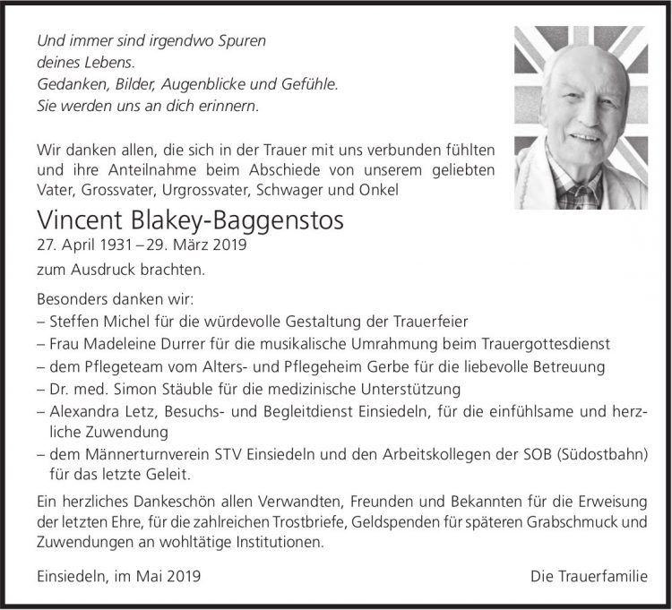 Blakey-Baggenstosim Vincent, Mai 2019 / DS