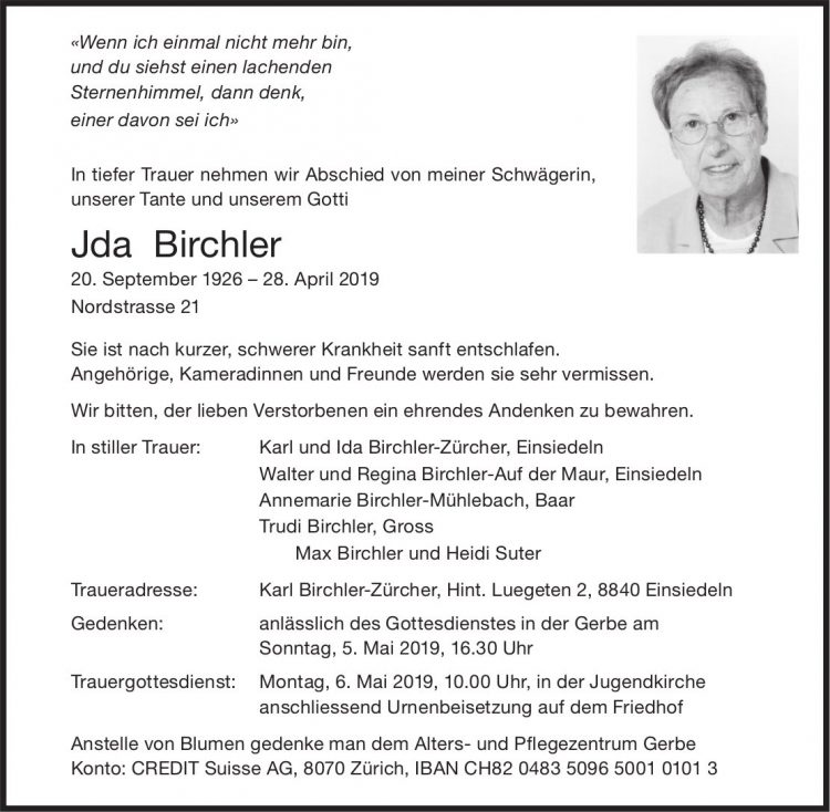 Birchler Jda, April 2019 / TA
